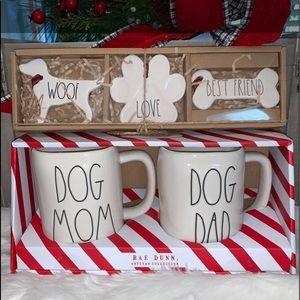 🎄🆕Ray Dunn Dog Mom/Dad Mug & Ornament Set